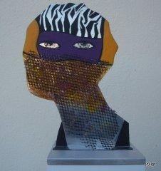 Kopf-Metallobjekt